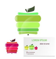 Apple card vector image
