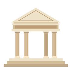 bank building facade financial investment vector image vector image