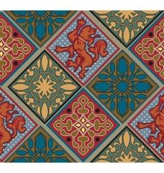 Baroque royal tile pattern vector