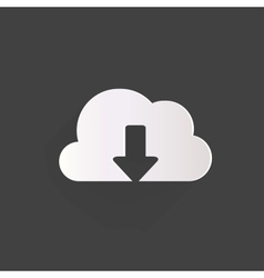 Cloud download application web icon vector
