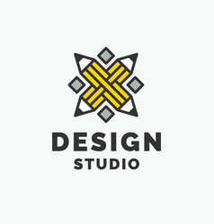 conceptual logo and label design studio vector image vector image