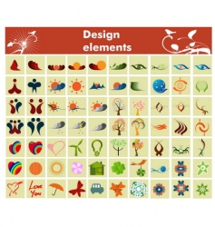 design elements and icons vector image