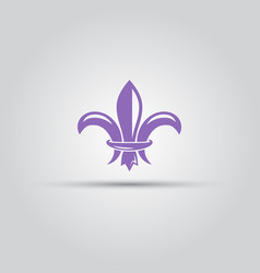 fleur-de-lis isolated colored icon vector image