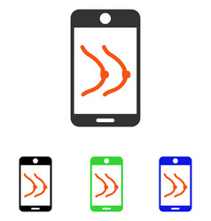 Mobile erotics flat icon vector