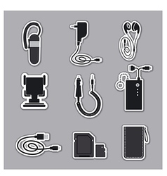 Mobile phone accessories vector