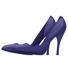 pair of dark blue shoes with high heels isolated vector image
