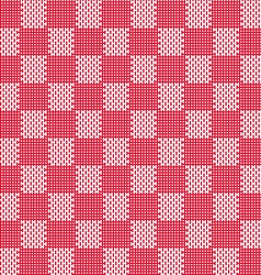 Red white seamless fabric texture pattern vector