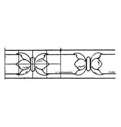 Rich enrichment bead moulding pilasters vintage vector
