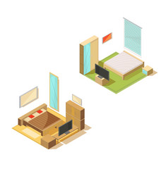 Room furniture design collection vector