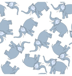 Seamless Funny Cartoon Elephant vector image vector image