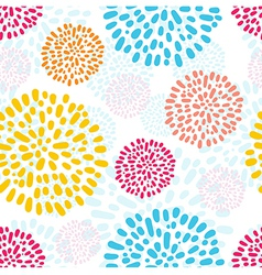 seamless pattern with doodled peony flowers vector image