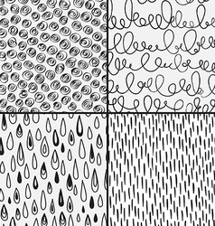 Set of abstract doodles with doodles circkes drops vector image vector image