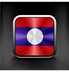 Sovereign state flag of country of Laos vector image vector image