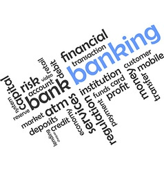 word cloud banking vector image vector image