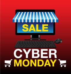 Cyber monday background vector