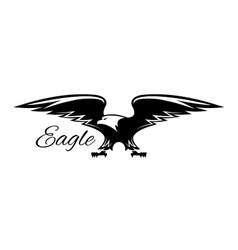 Black american eagle with spread wings icon vector image