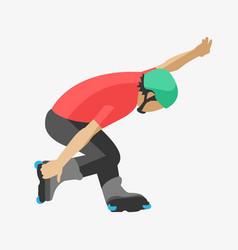 roller man tricks in skates skating sport extreme vector image