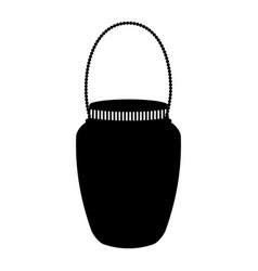Mason jar with hook isolated icon vector