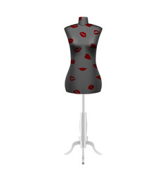 Tailors dummy mannequin with lips pattern vector