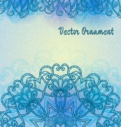 Vintage light blue pattern vector image