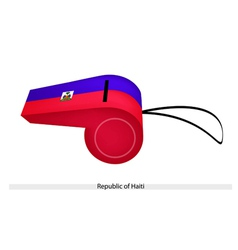 A whistle of the republic of haiti vector