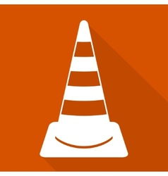 Warning road cones icon vector