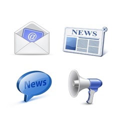 News icon set vector image