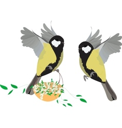 Great tit spring vector