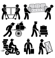 Loader people icons vector