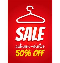 Sale clothes rack vector image