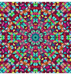 Abstract colorful digital decorative flower star vector
