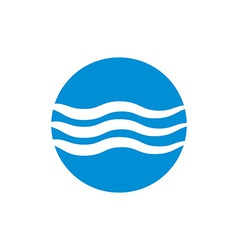 Wave water icon abstract icon symbol vector image