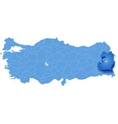 Map of turkey van vector