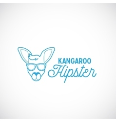 Line style abstract kangaroo hipster face vector