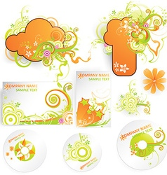 Fresh summer set for business vector
