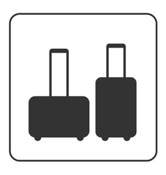 Suitcase icons baggage vector