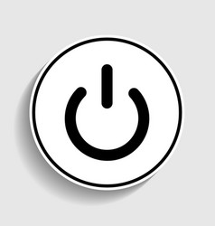 On off switch sign vector