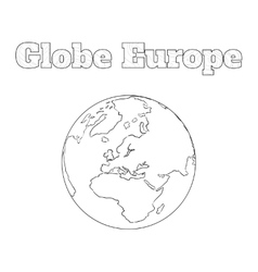 Globe Europe view vector image