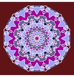 Ornament oriental color card cover with mandala vector