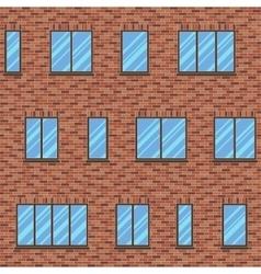 Brick facade pattern 1 color vector