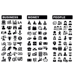 Business money and people icon vector