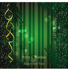 christmas festive vector image