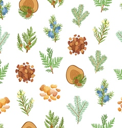 Coniferous pine wood and resin seamless pattern vector image