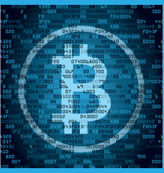 Cryptocurrency bitcoin and blockchain technology vector