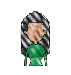 drawing portrait girl avatar fashion image vector image