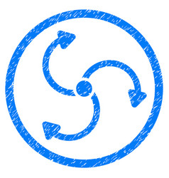 Fan rotation rounded grainy icon vector