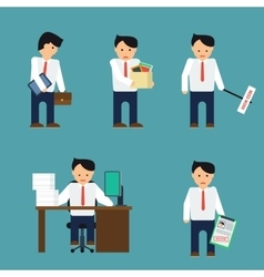 Flat depressed businessman vector image vector image