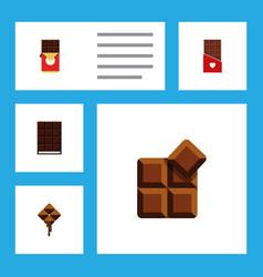 Flat icon chocolate set of chocolate chocolate vector