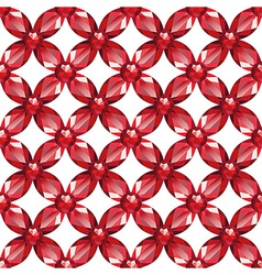 Flower Mesh rubies seamless texture vector image vector image