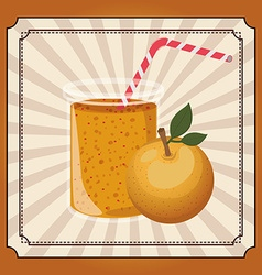fresh fruit juice vector image